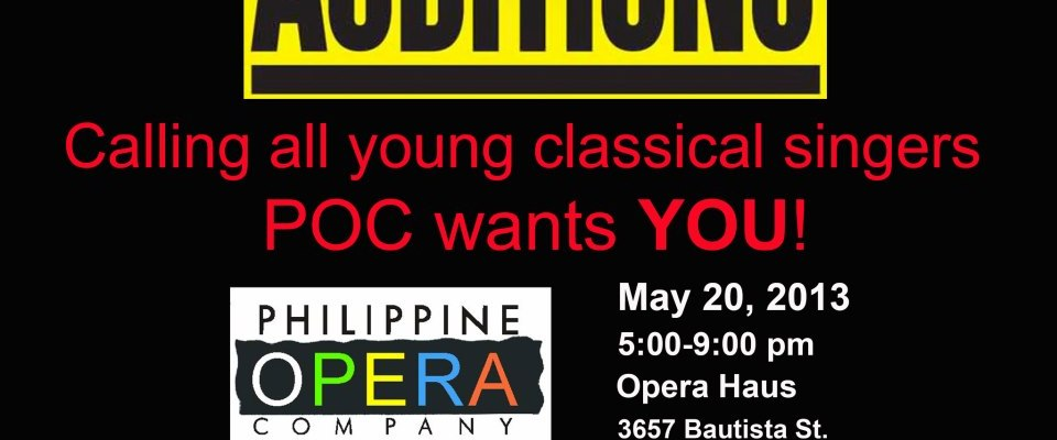 POC Holds OPEN AUDITIONS for Classical Singers on May 20