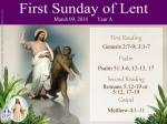 Reading for the First Sunday of Lent, photo courtesy of Our Lady of Mediatrix FB Page