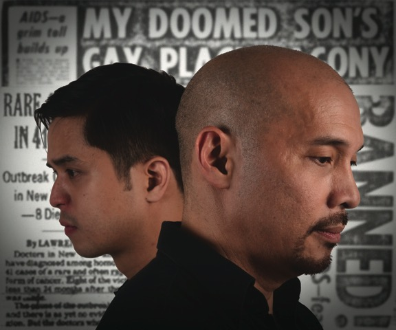 Topper Fabregas and Bart Guingona in The Normal Heart
